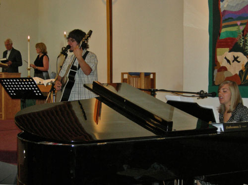 Special music during a worship service